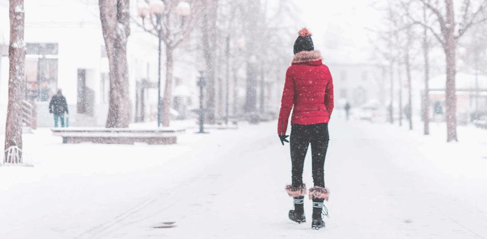 Spacery w mroźne dni wpływają korzystnie na zdrowie