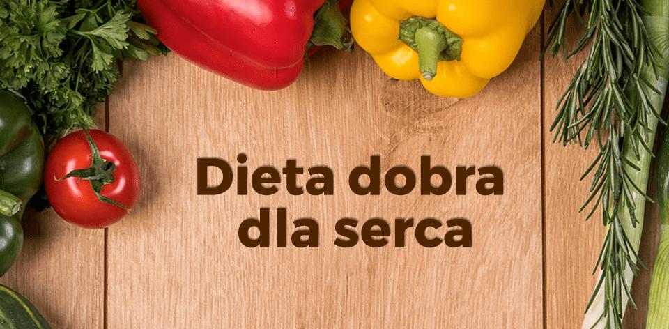 Napis - dieta dobra dla serca