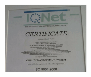 ISO 9001:2008 IQNet Iso Quality Management System Certification