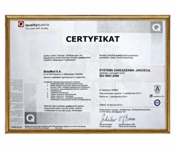 ISO 9001:2008 Quality Management System Certification