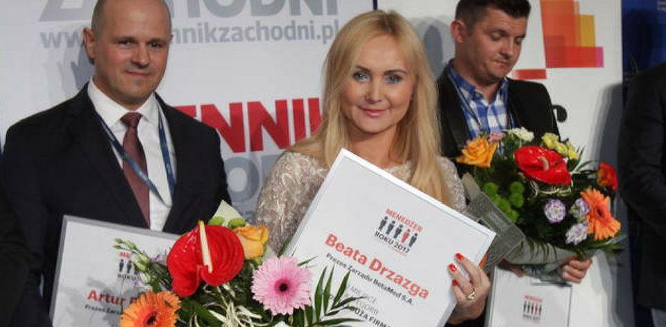 Beata Drzazga - Menedżer Roku 2017 - nagroda