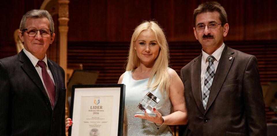 Wręczenie nagrody lider ochrony zdrowia