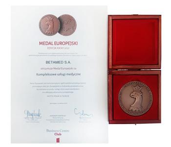 Medal Europejski za Kompleksowe usługi medyczne 2021