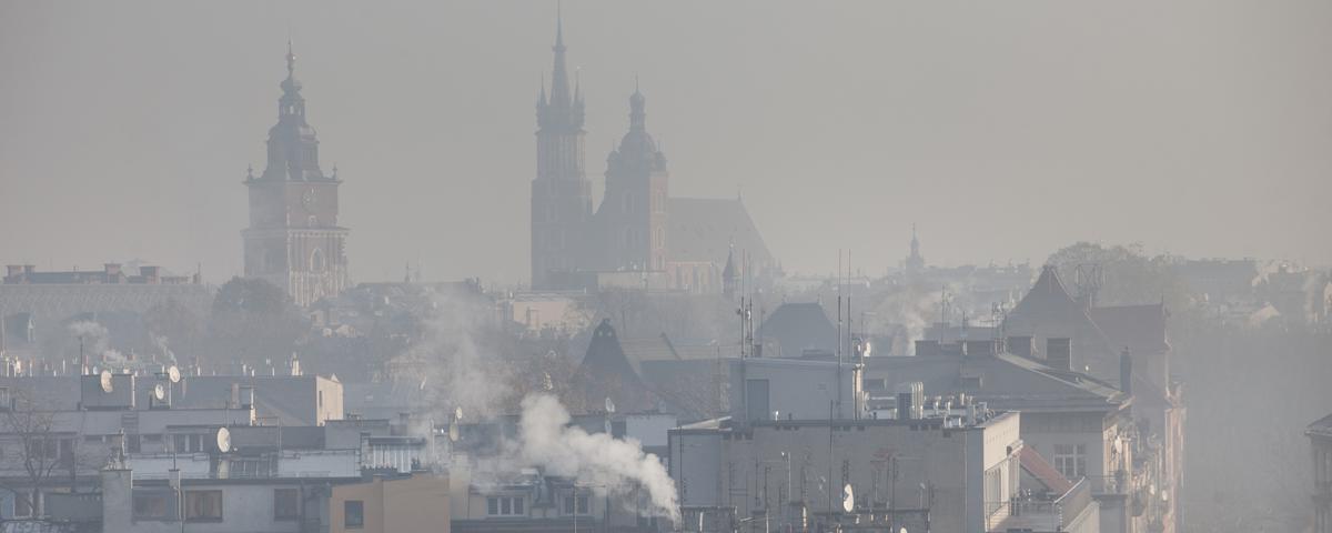 Jakość powietrza - zanieczyszczone miasto